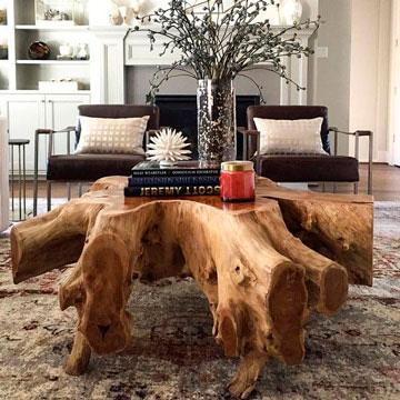 mesa-rustica-de-tronco-para-salon